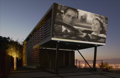 Home with outdoor cinema