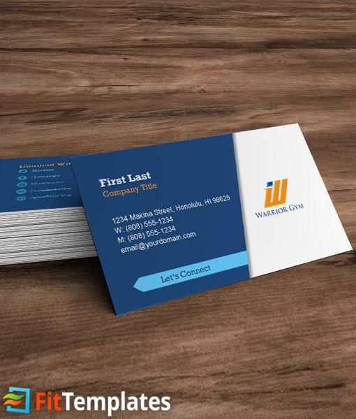 Crossfit business card template from fittemplates creative health club business card template with social media icons and headshot reheart Images
