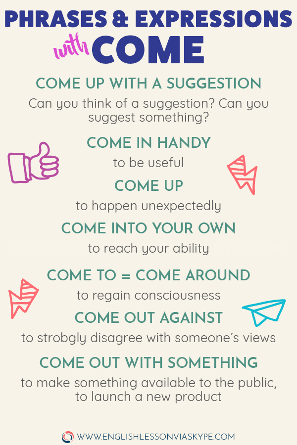 How To Use Phrasal Verbs With Come Learn English With Harry Learn English Vocabulary English Vocabulary Words Learn English Words