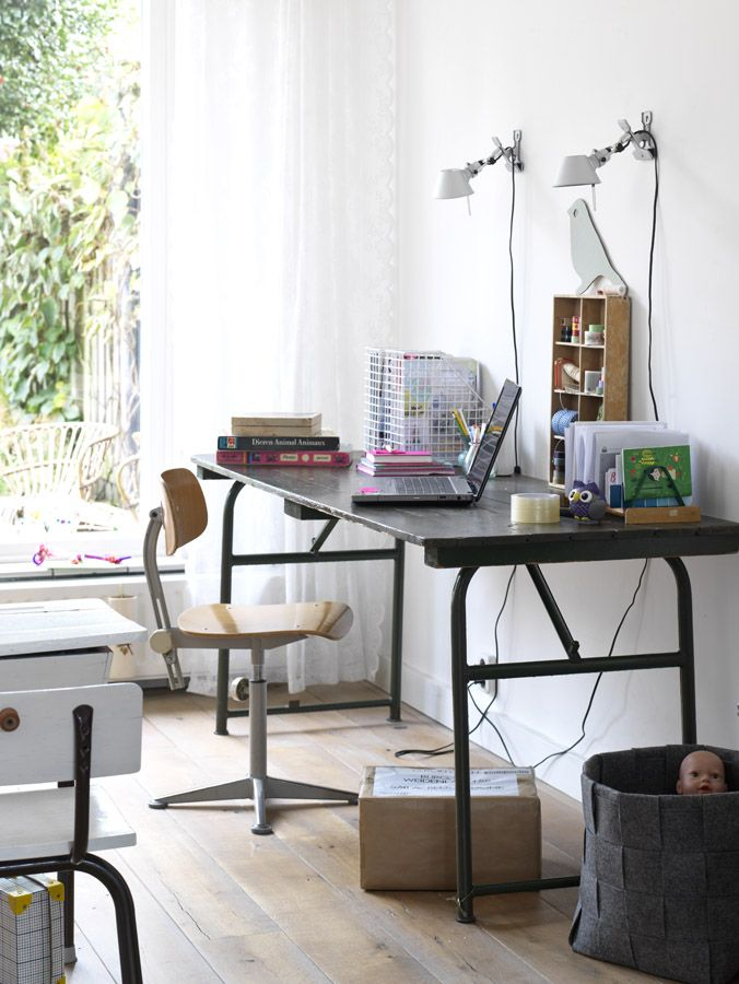 legertafel als bureau interior Pinterest Bureaus and Interiors