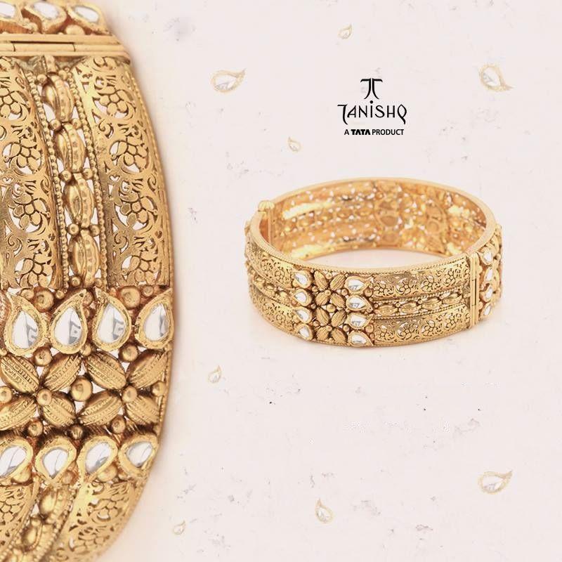 Gold Broad Bangle From Tanishq | Bangle, Big and Gold