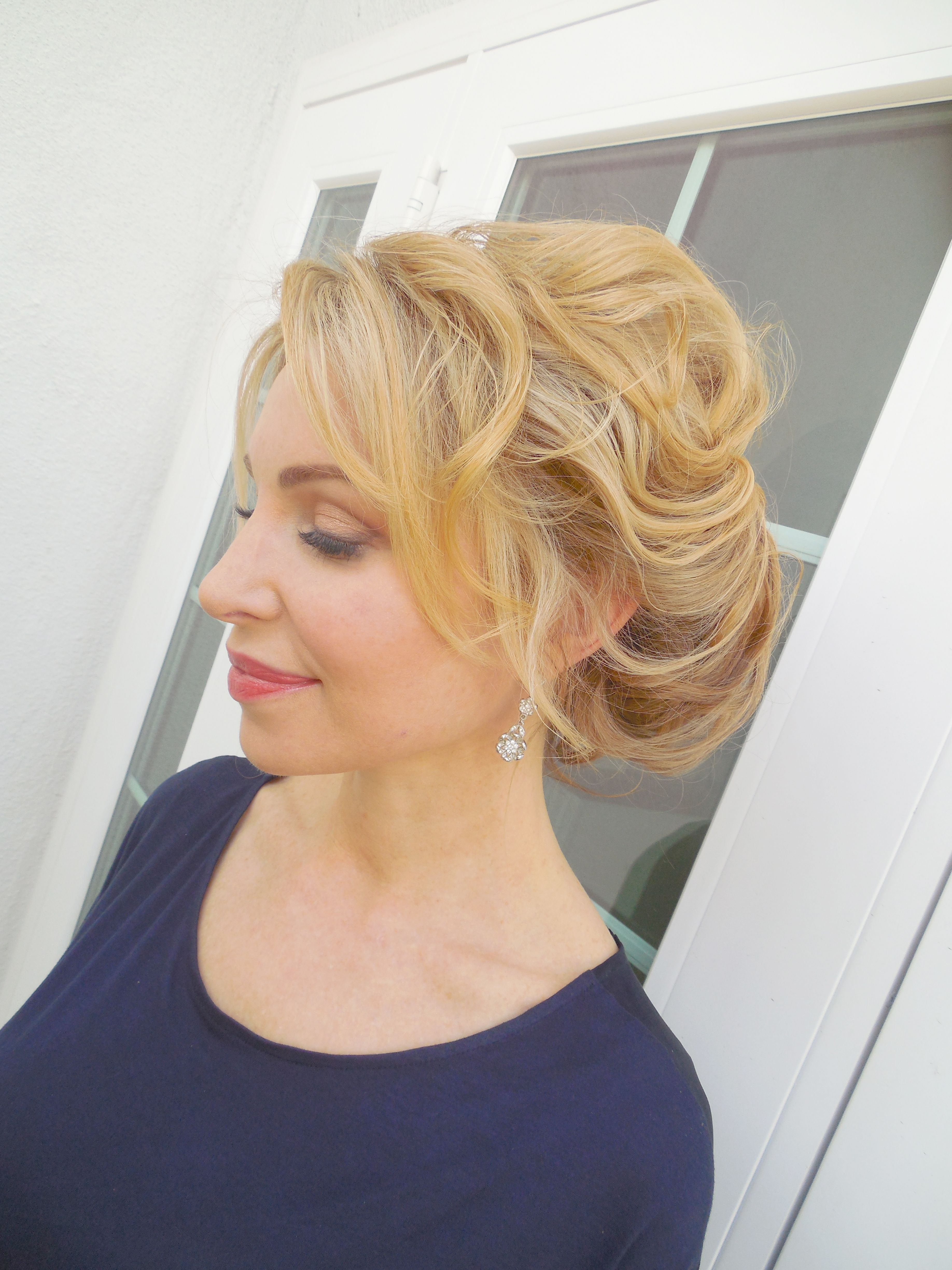 Soft Romantic Updo And Beautiful Makeupkeup And Hair By Jana