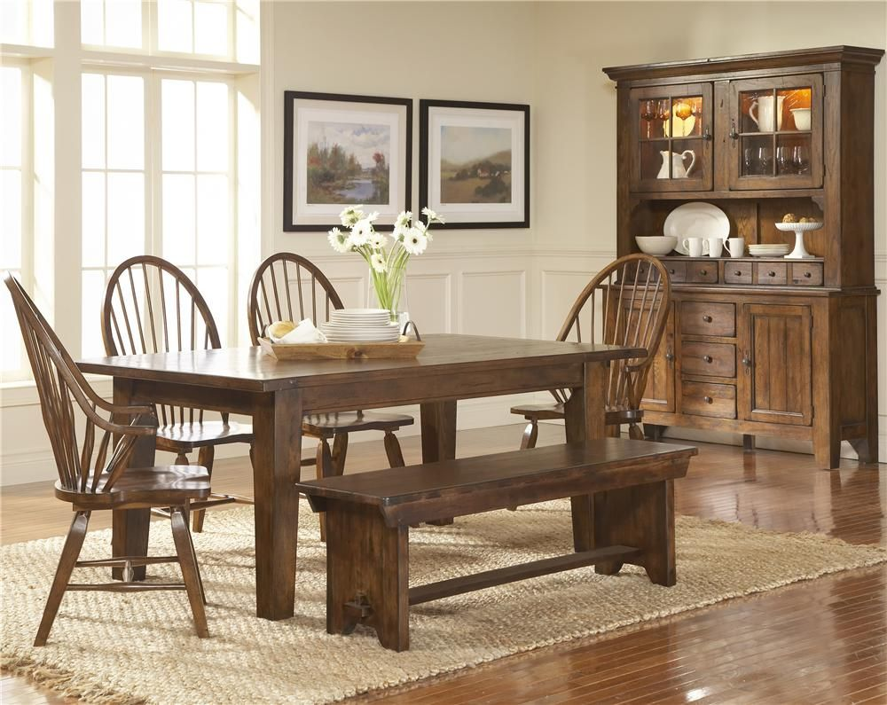 Attic Heirlooms Seat Bench By Broyhill Furniture Wolf Furniture Furniture Dining Room Table Heirloom Dining Table Dining Room Sets