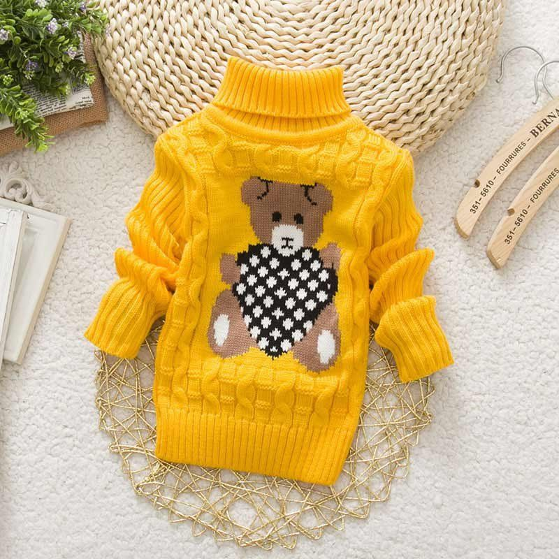 Toddler Baby Kids Girls Boys Winter Warm Knitted Sweater Jumper Pullover Coats