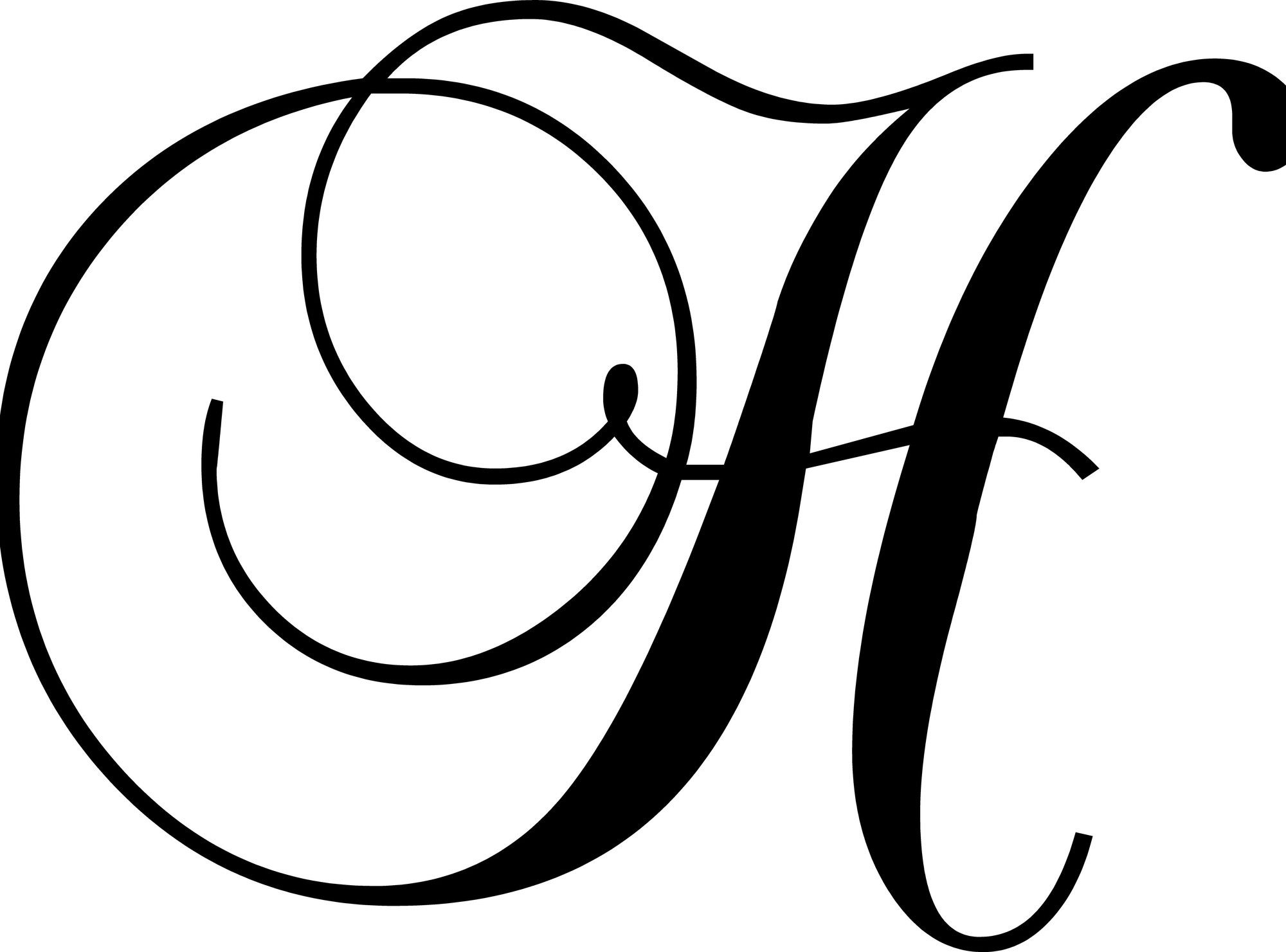 """Letter """"H"""" Wall Decal Lettering, Letter h design, H tattoo"""