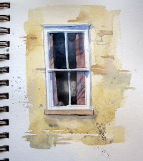 Architecture Tutorial - How to paint windows in watercolour - Artists' Journal Workshop
