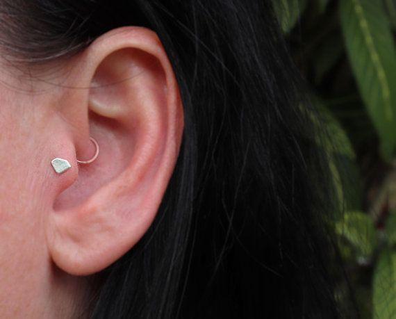 36a116f2b Silver Diamond Shaped Tragus Stud, Labret Earring, Diamond Earring ...