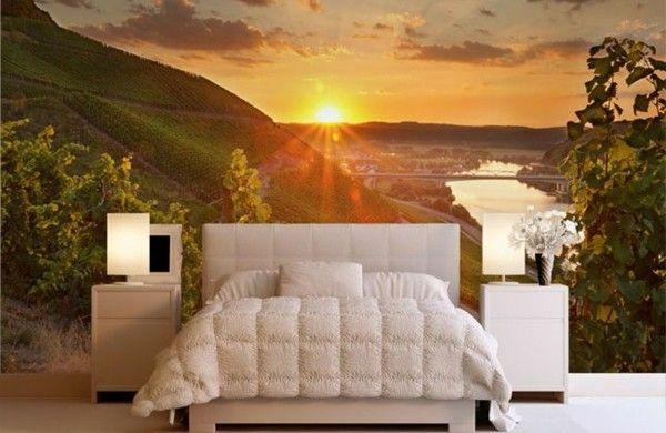 Bildtapete schlafzimmer ~ Fototapete schlafzimmer berge sonnenuntergang home accessories