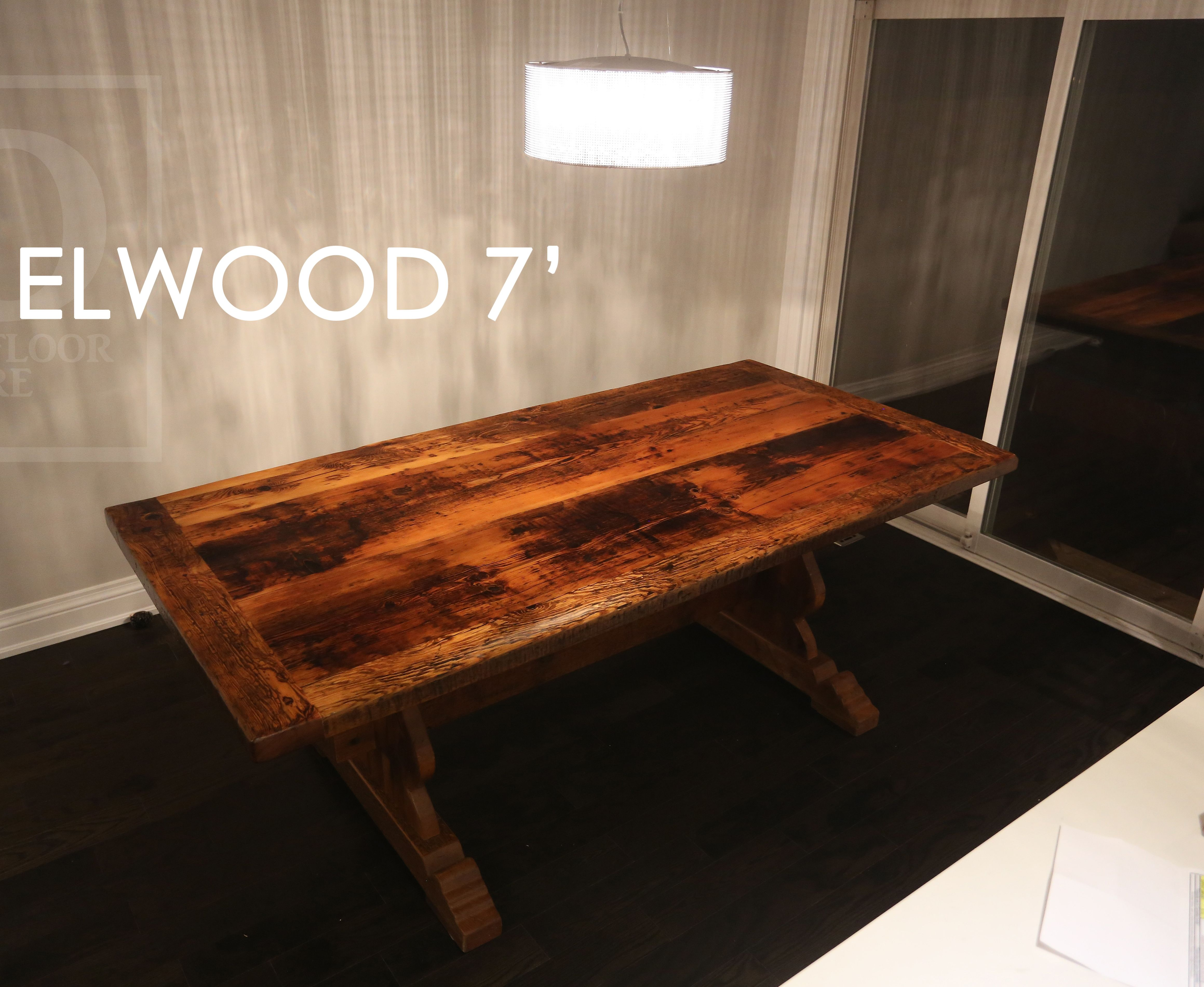 Reclaimed Wood Trestle Table By HD Threshing Floor Furniture Of Cambridge,  Ontario / Www.