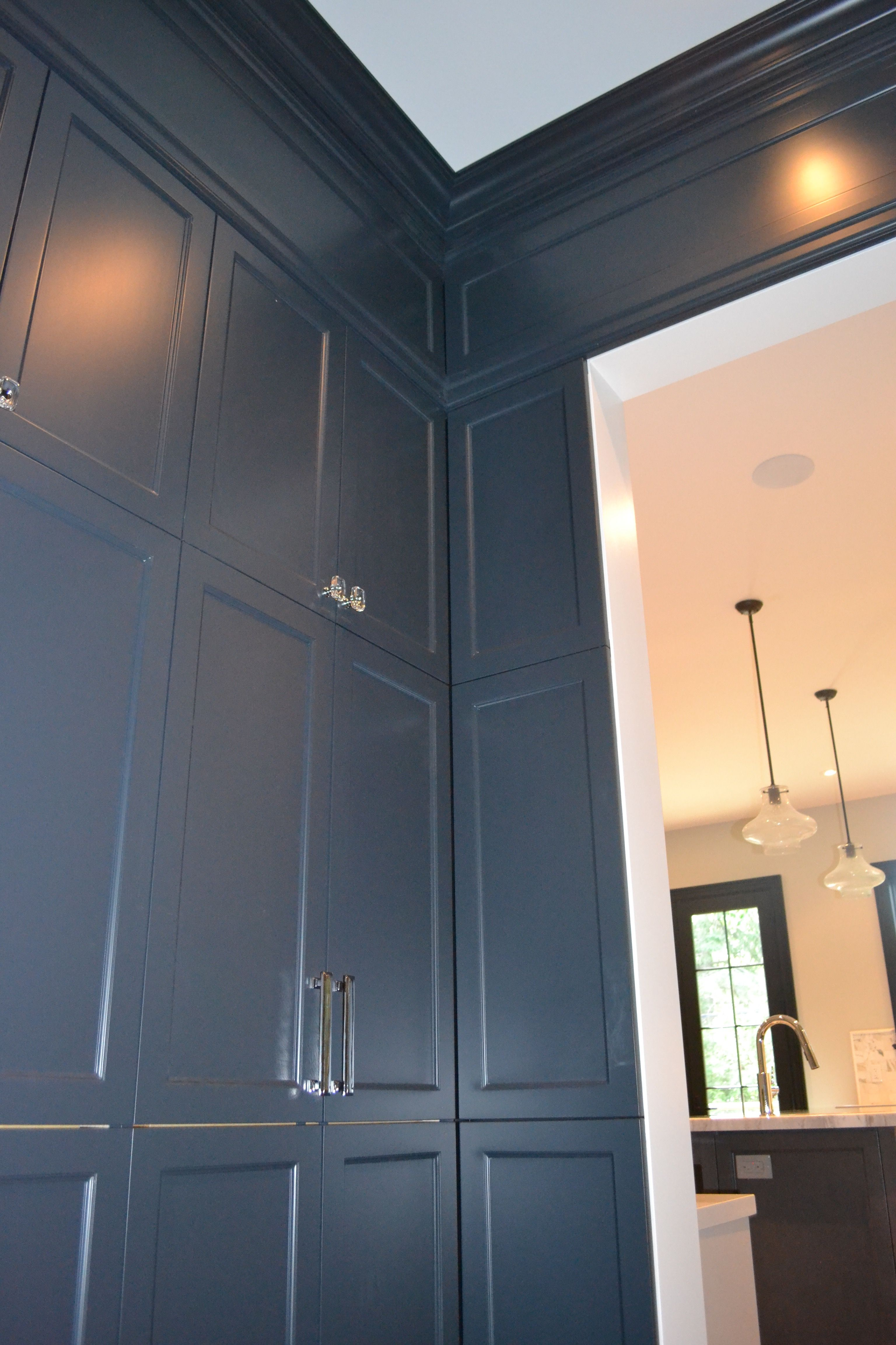 Perfect 10 Design Custom Pantry Built In with wall panelling detail ...