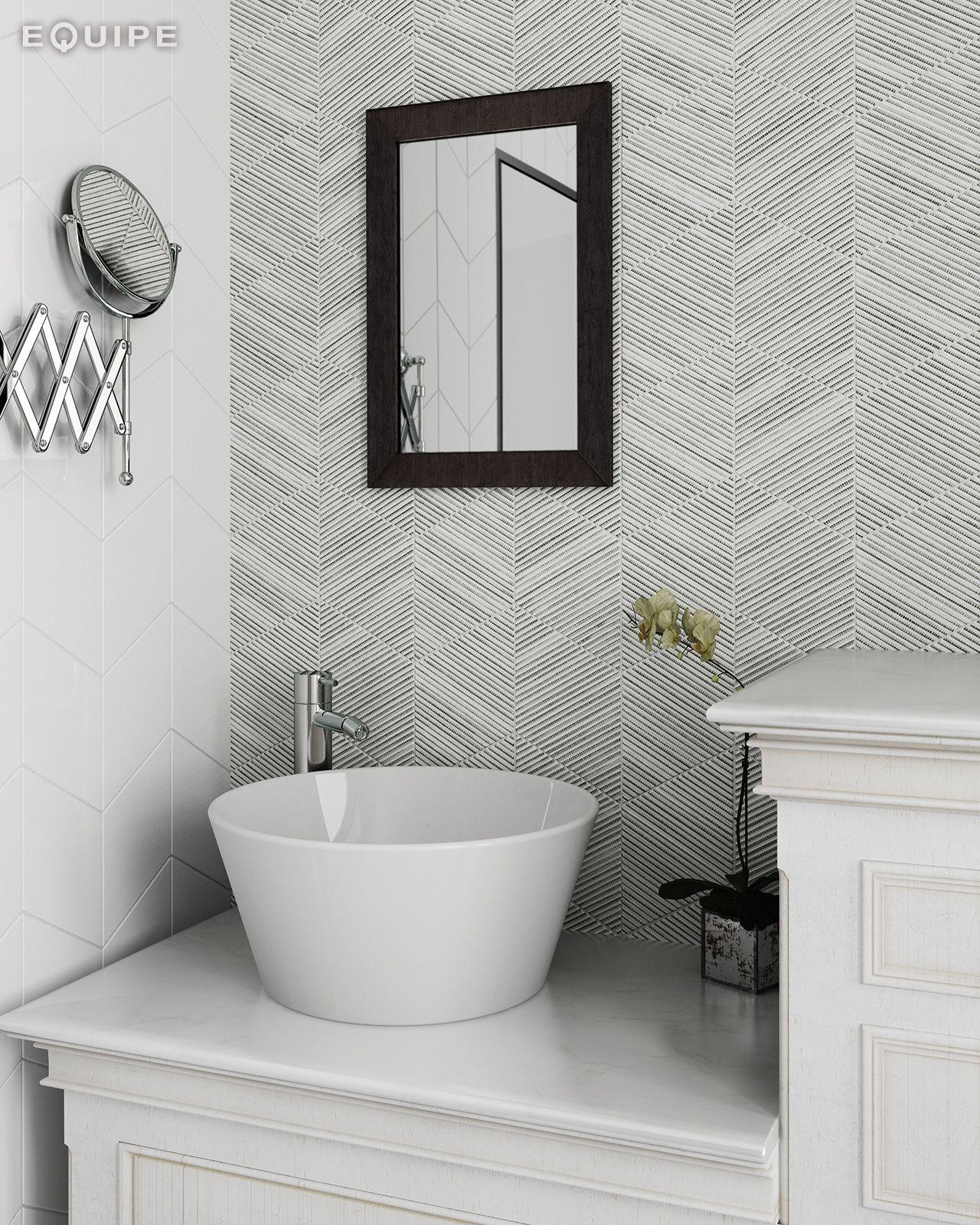 Rhombus Wall White, Decor Bamb B&W 15,2X26,3 #Modern, Rhombus Tilegeometric