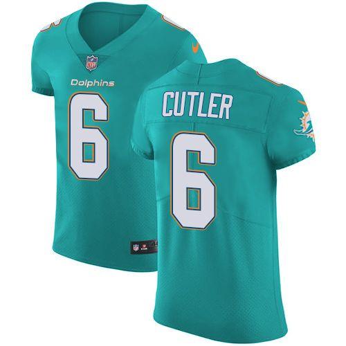 Nike Dolphins  6 Jay Cutler Aqua Green Team Color Men s Stitched NFL Vapor  Untouchable Elite 71e179a20