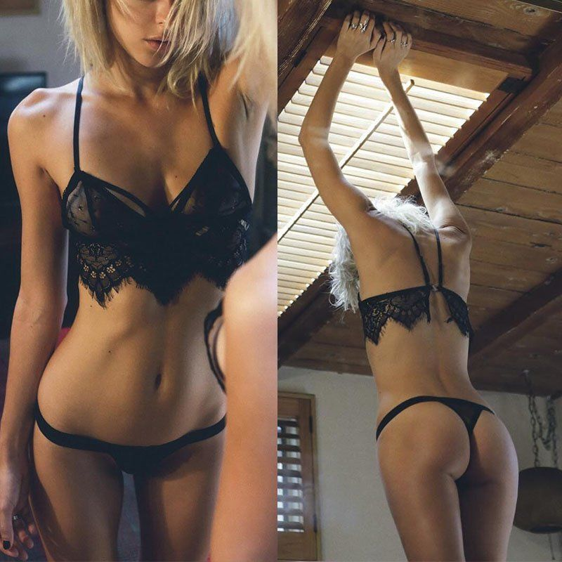 2016 Sexy Women Underwear Strappy Bra Crop Top Ladies Sexy Lace Top Cami Tank Brassiere Y36