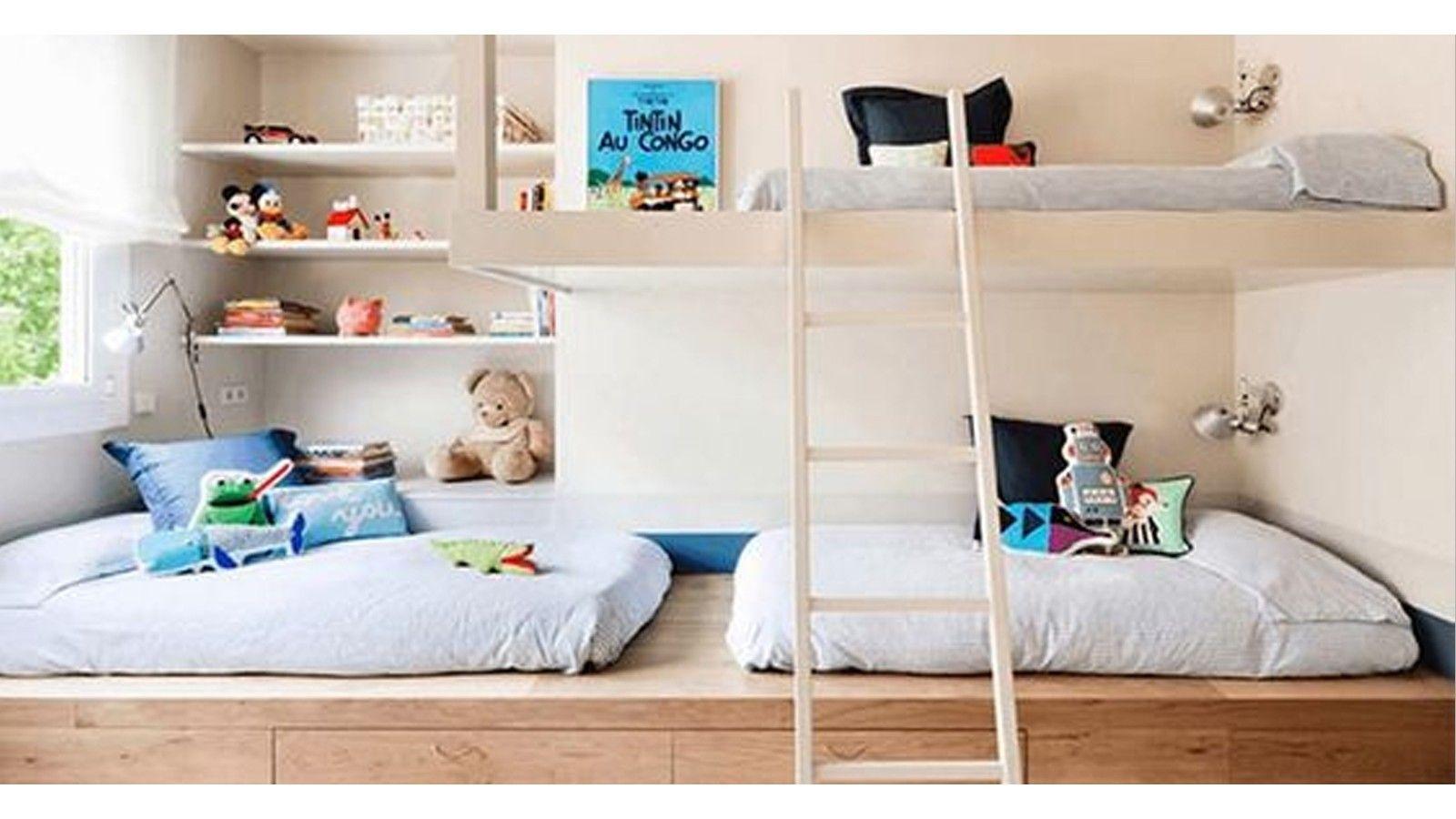 Une chambre pour plusieurs enfants  Déco chambre mixte, Deco