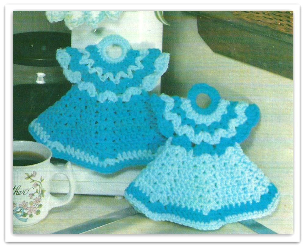 Crochet Doll Dress Potholder Pattern Pdf 03431209 By