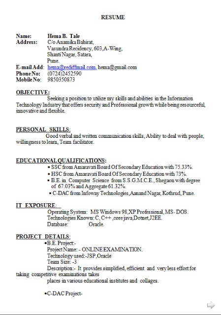 curriculum vitae sample for students free download sample template example of professional