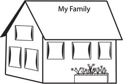 preschool family themed coloring pages - photo#28