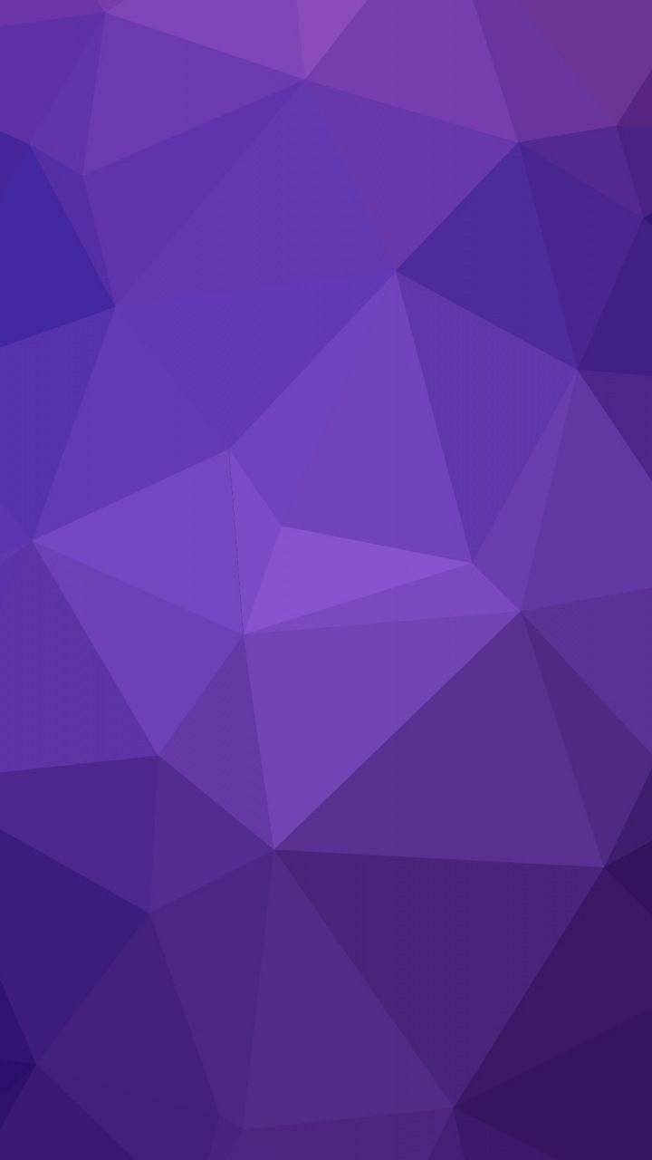 Purple Polygonal Abstract Background: Geometry, Triangles, Gradient, Purple, Abstract, 720x1280