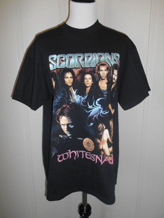 60cd26a0 Scorpions Whitesnake Band tour t shirt by ATELIERVINTAGESHOP ...