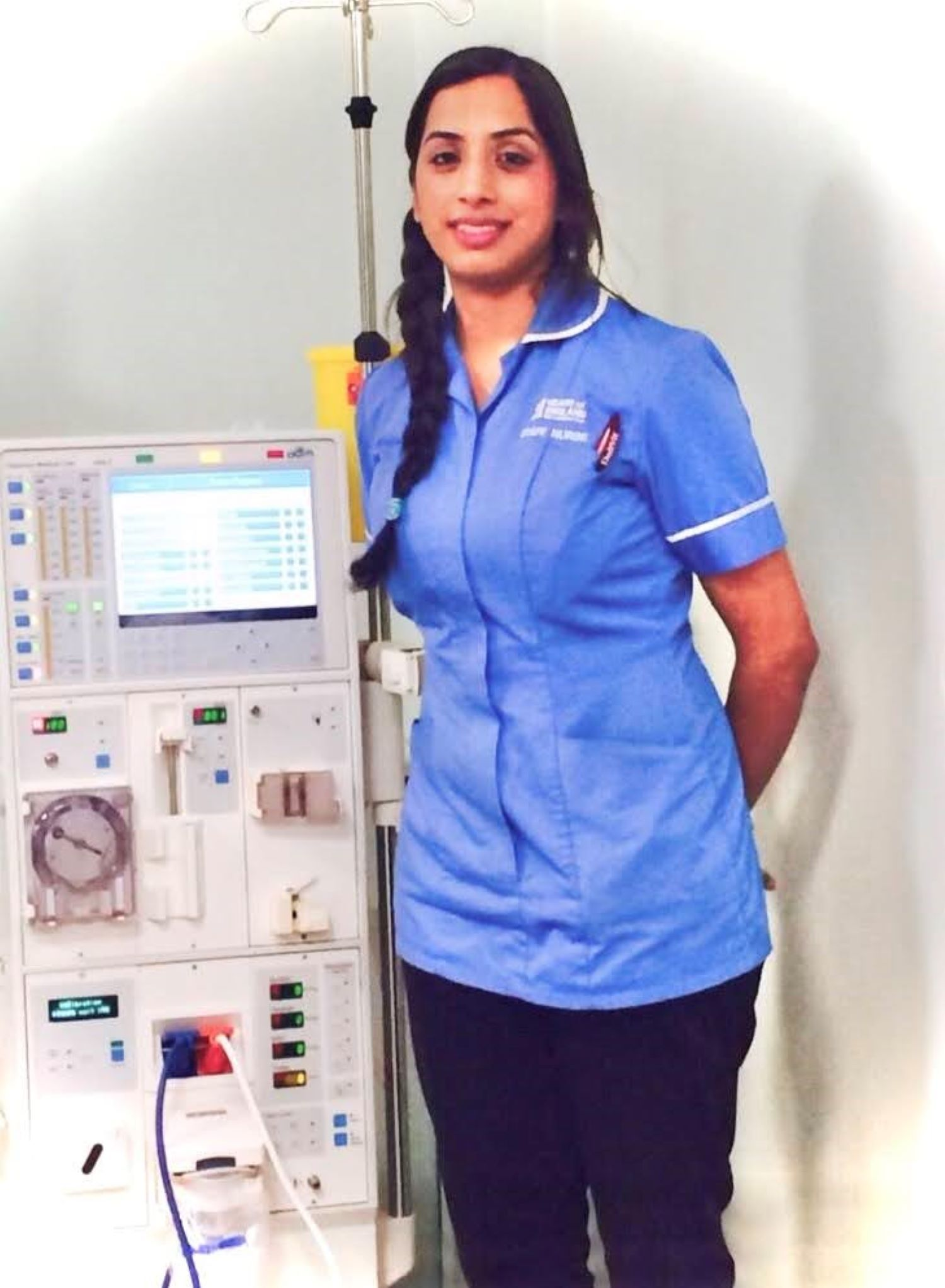 Salma Bi working as Haemodialysis Nurse   Twitter