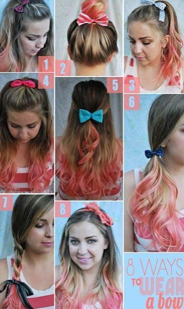 8 Cute Ways To Wear A Bow Hair Styles Hair Hairstyle