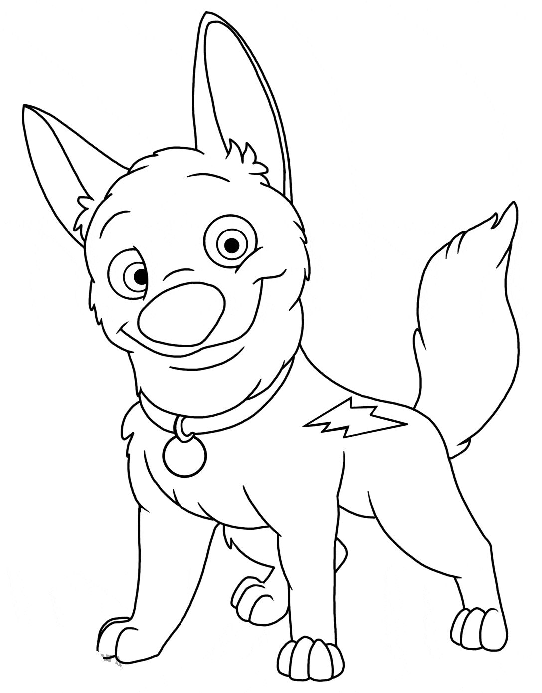 Disney Bolt Coloring Pages Free