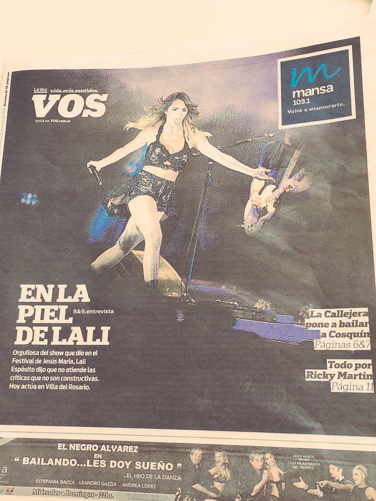 """Juntos por Lali on Twitter: """"Villa del Rosario! Estamos aquí .. Abrimos el diario y.. @Vicky_Roa @LaliMusica @FestivalJM https://t.co/GhwdvDJ9QA"""""""