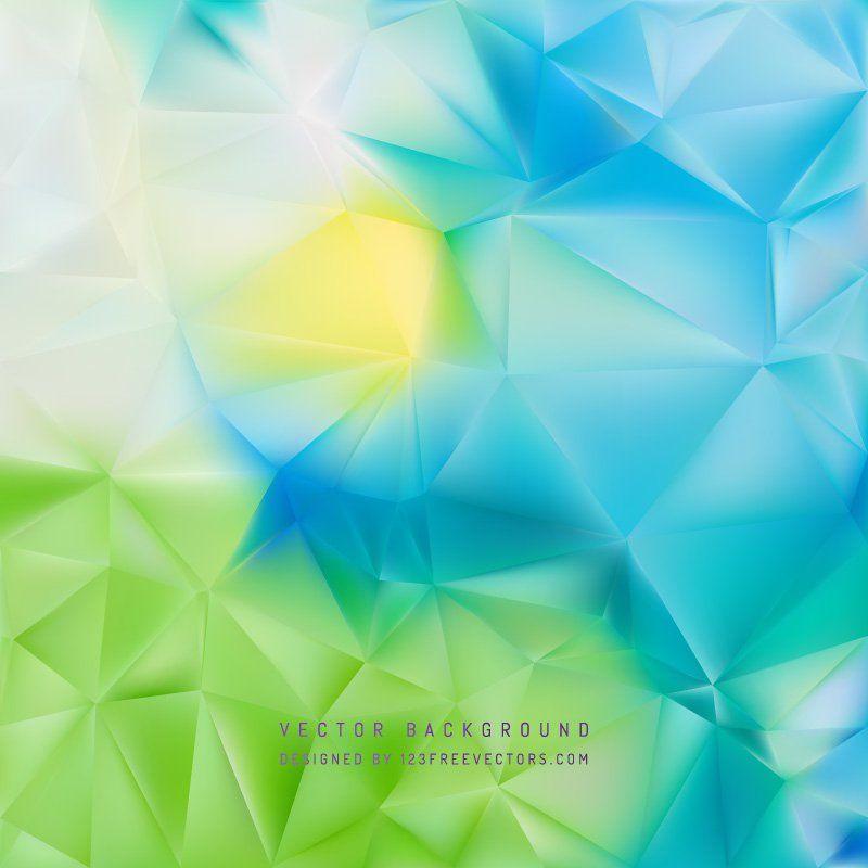 Blue Green Polygonal Background Design Background Design Vector