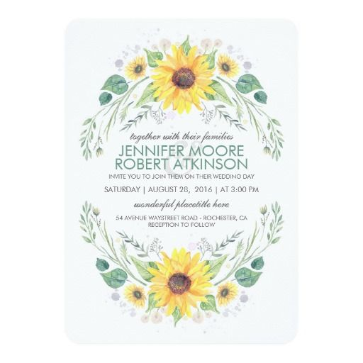 Sunflowers Rustic Country Wedding