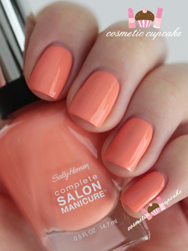 "Sally Hansen ""Peach of Cake"" - my nail color right now. Love spring colors!"