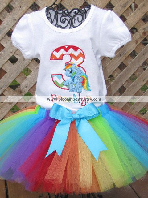 My Little Pony Rainbow Dash Tutu Set. Includes by bloomnbows ...
