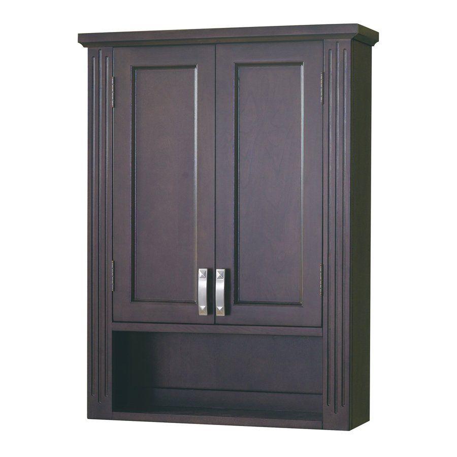 Allen Roth 90341 Kingsway Brazilnut Bathroom Wall Cabinet Lowe S Canada