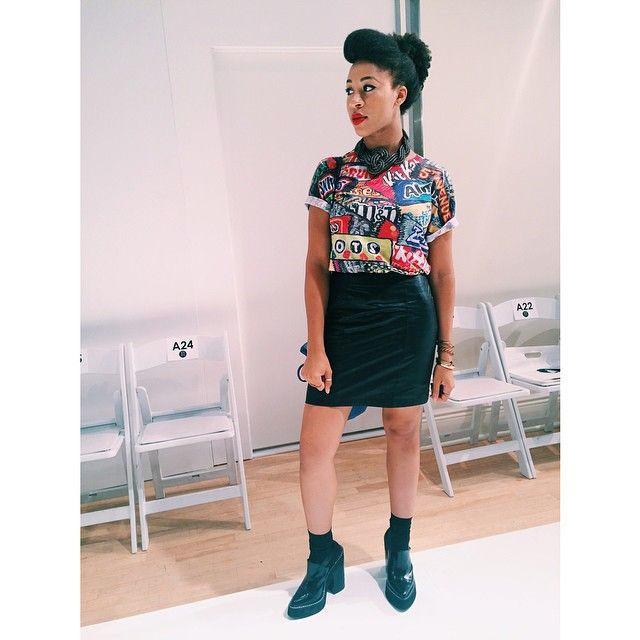 Happy #NYFW! Sporting this super yummy outfit courtesy of @shopworship! (at Mercedes-Benz Fashion Week)