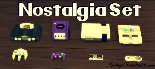 Nostalgia clutter set at LindseyxSims • Sims 4 Updates