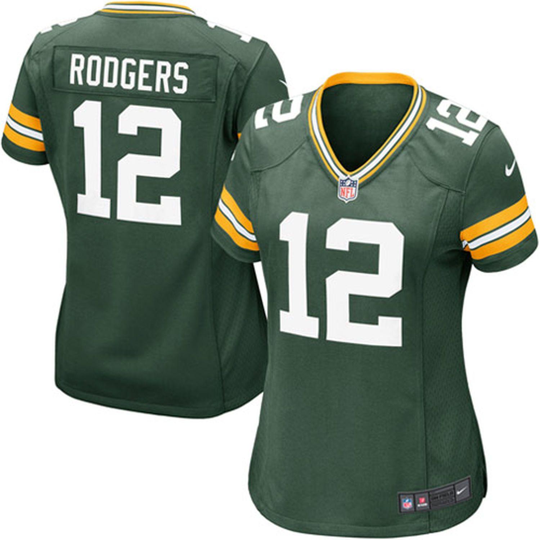 Women S Green Bay Packers Aaron Rodgers Nike Green Game Jersey Green Bay Packers Jerseys Packers Womens Green Bay Packers