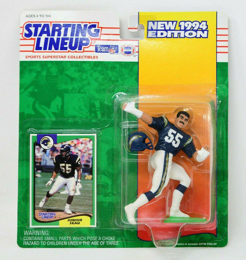 Starting Lineup 1994 Junior Seau San Diego Chargers Football NFL SLU #Kenner