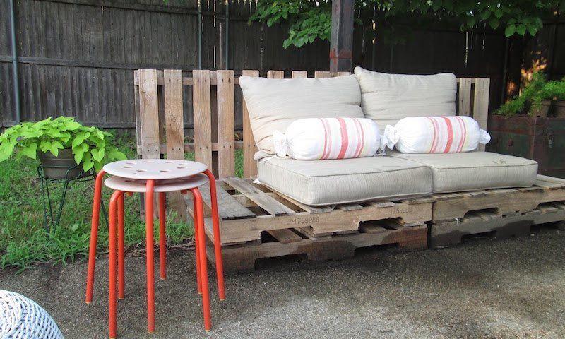 Faire un banc en palette de bois et le décorer soi-même- les top - plan pour fabriquer un banc de jardin