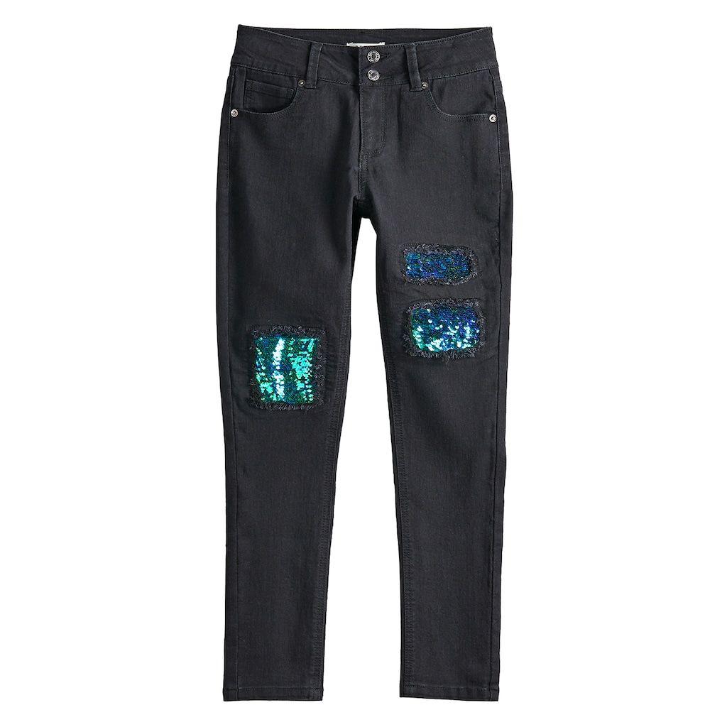 f7e0247c4c1 Girls 7-16 Mudd® Sequin Midrise Skinny Jeans