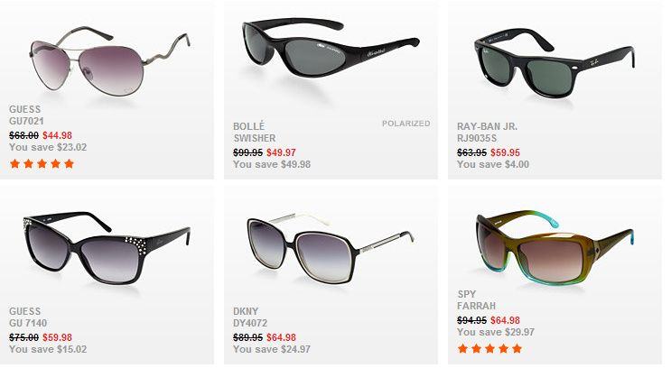 Popular Sunglass Hut Coupon Codes