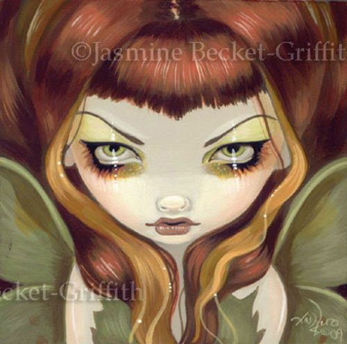 Fairy-Face-60-Jasmine-Becket-Griffith-Butterfly-Moth-Lowbrow-SIGNED-6x6-PRINT