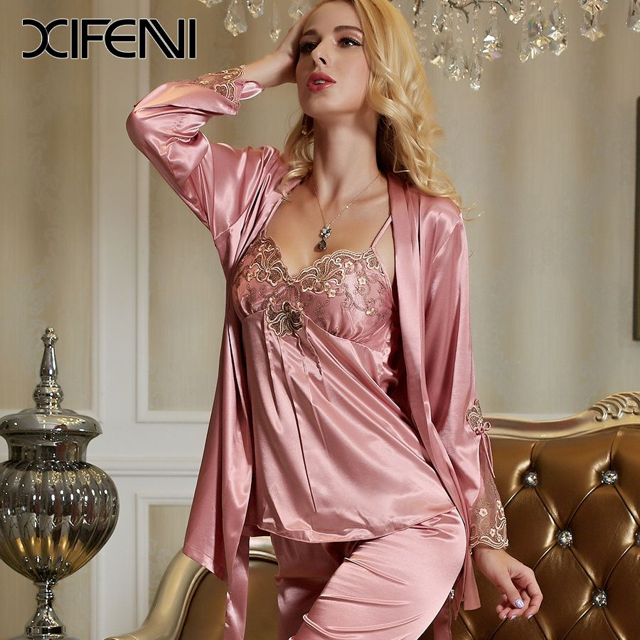 Women's Sexy Satin Sleepwear Pajamas Lingerie Shorts Camisole Sets