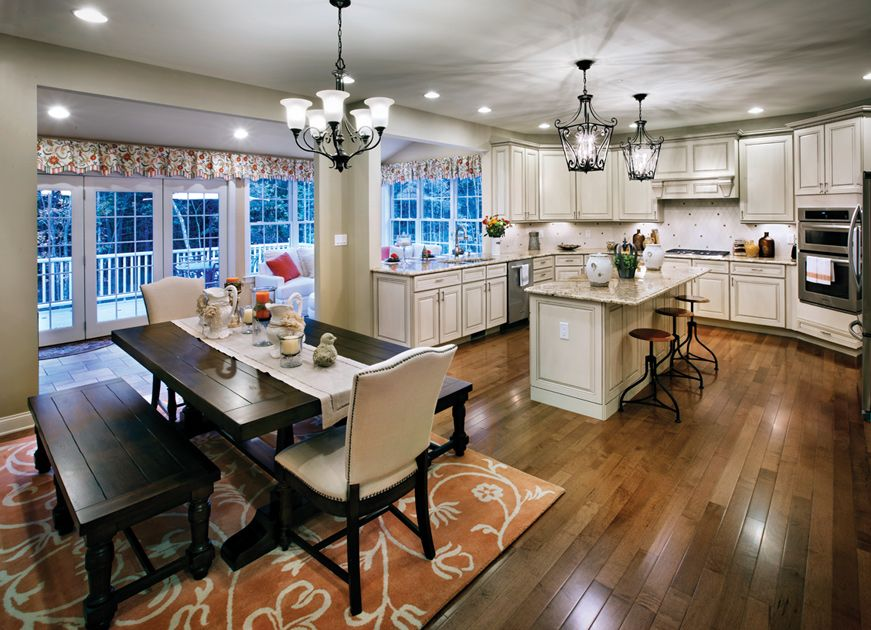 Toll Brothers Duke Gourmet Kitchen And Solarium Kitchen Dining Combo Living Room Kitchen