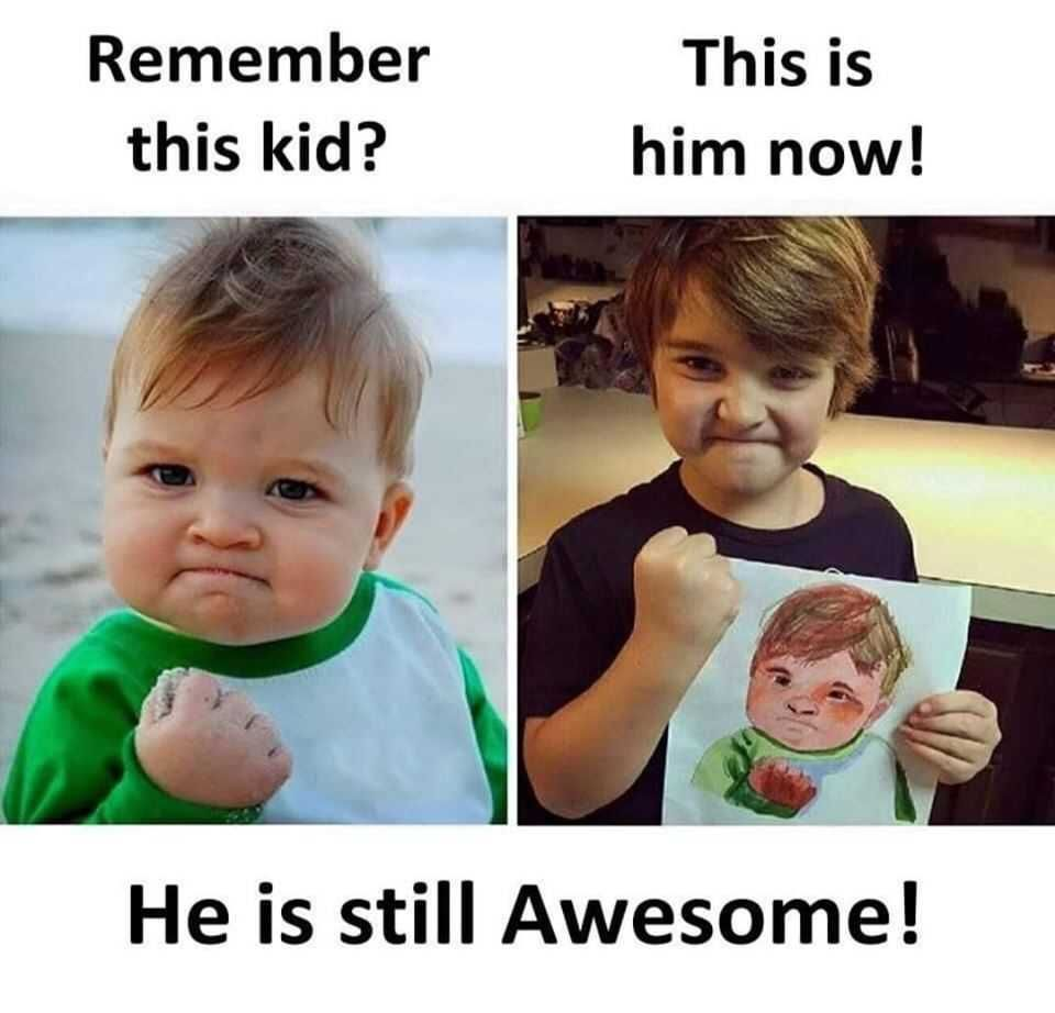 A Famous Meme Kid Found Still Awesome In Real Life Very Funny Memes Funny Picture Jokes Some Funny Jokes