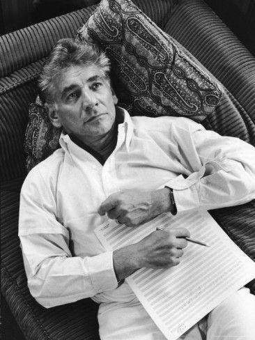 Portrait of Composer/Conductor Leonard Bernstein by Alfred Eisenstaedt