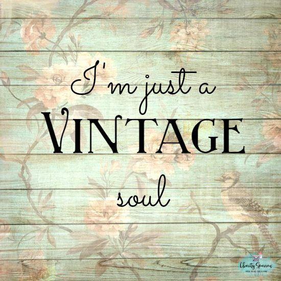 Live Market Quotes: I'm Just A #vintage Soul Charitysparrow.com