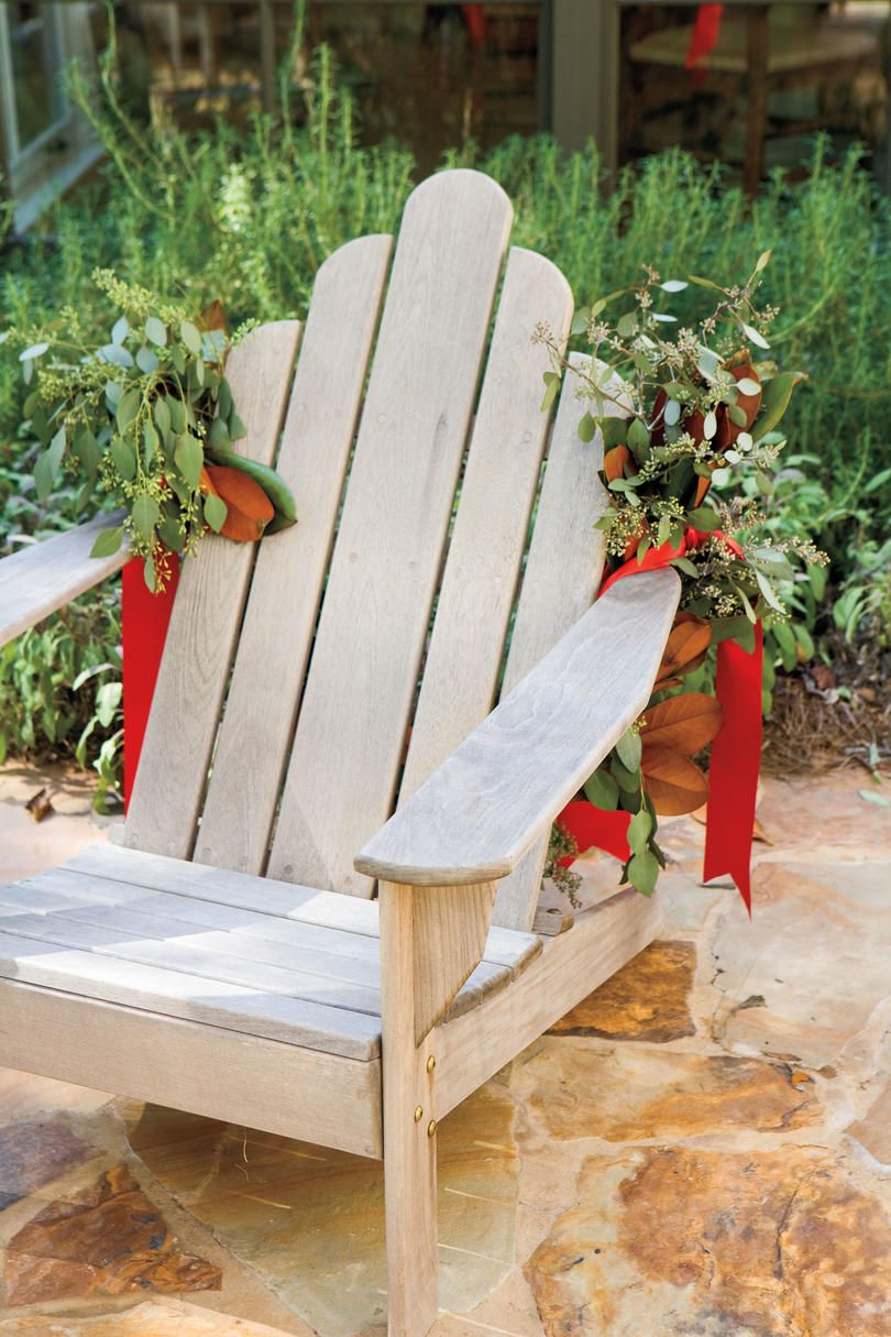 decorate with magnolia and eucalyptus bring cheer to your house this holiday season with these - Christmas Decorating Ideas Outdoor Benches
