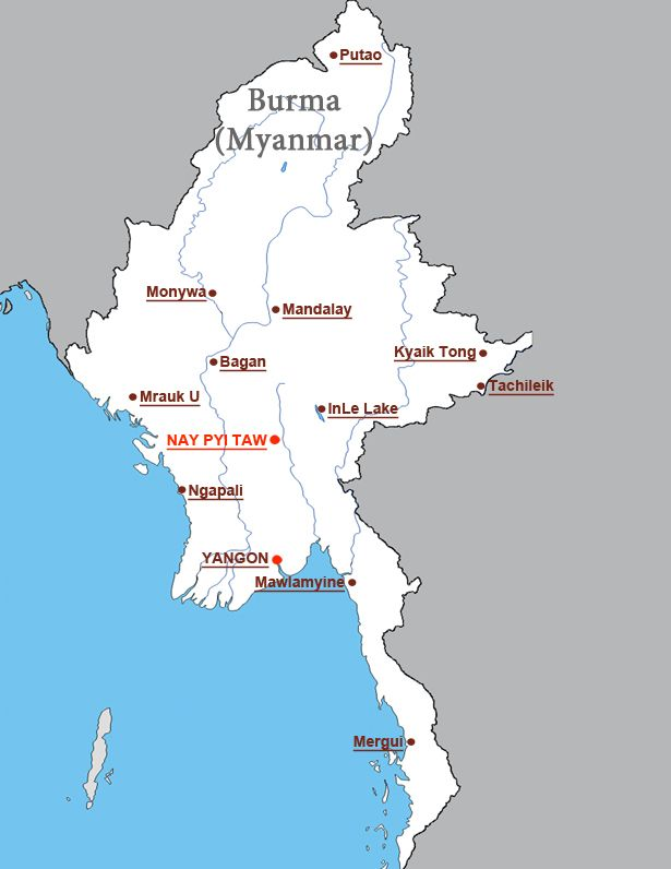 Myanmar Tours > Best Places to See. Destination Guide