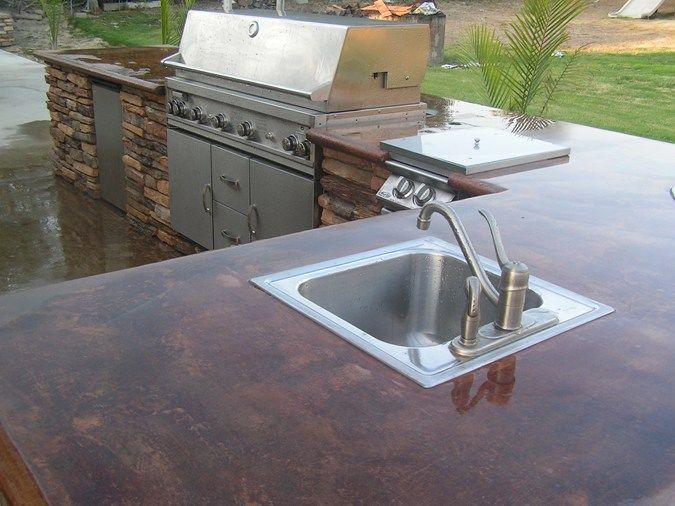 Outdoor Kitchen Backyard Barbecue Outdoor Kitchen Outdoor Kitchens Eilar Concrete Construction Colton Ca Diy Outdoor Kitchen Outdoor Kitchen Kitchen Trends