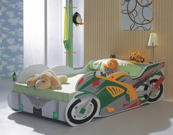 Motorcycle Shaped Bed Too Cute Kid Beds Stylish Kids Room
