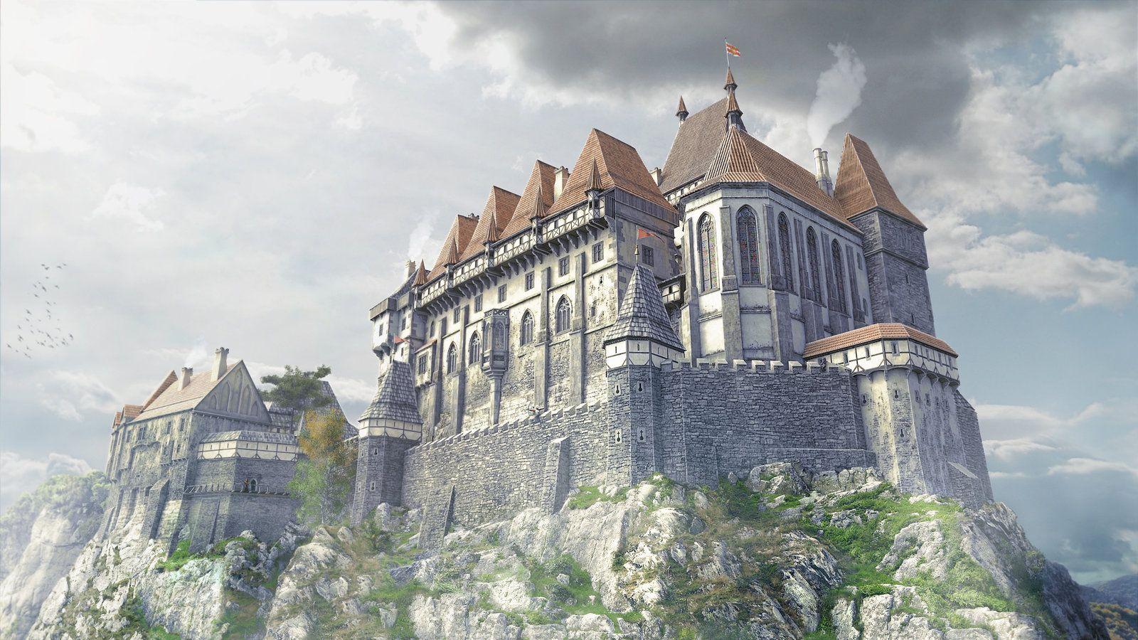 3d castle royal palace by montezuma on deviantart 3d art pinterest. Black Bedroom Furniture Sets. Home Design Ideas